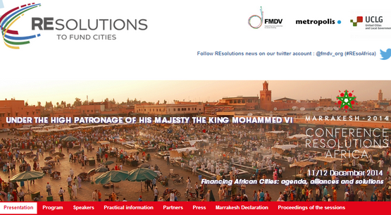 الجماعة الحضرية لتطوان تشارك في المؤتمر الدولي بمراكش حول تمويل المدن الإفريقية