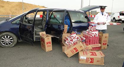 حجز نحو 1300 علبة سجائر مهربة من الحدود الجزائرية عند معبر مليلية