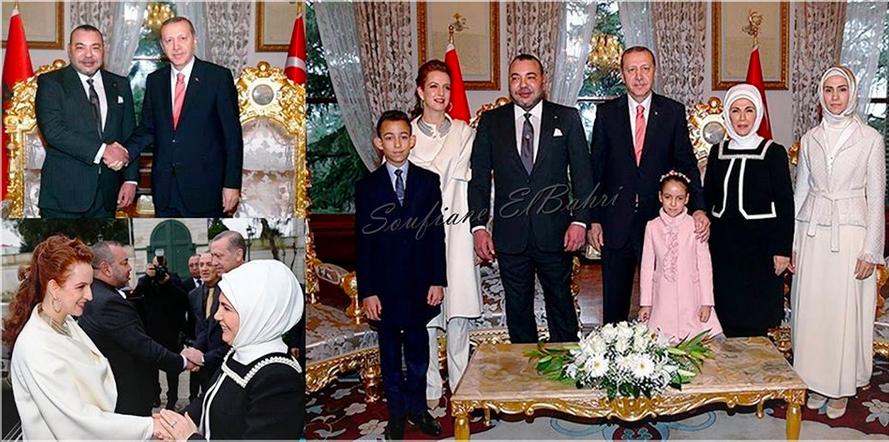 الملك وعائلته الصغيرة في ضيافة أردوغان