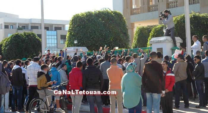 لقطة للجماهير التطوانية استغرب لها الوالي ورئيس الجامعة لقجع !