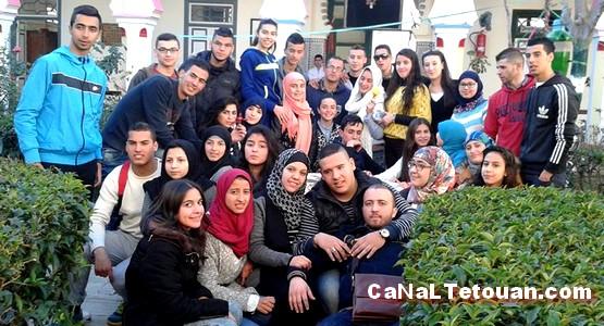 نادي الأمل بثانوية الحسن الثاني بتطوان في زيارة لدار المسنين