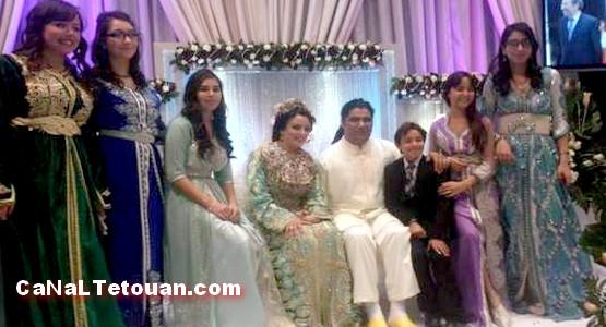 عرس بهيج للفنان فريد غنام مع عروسه التطوانية (صور)