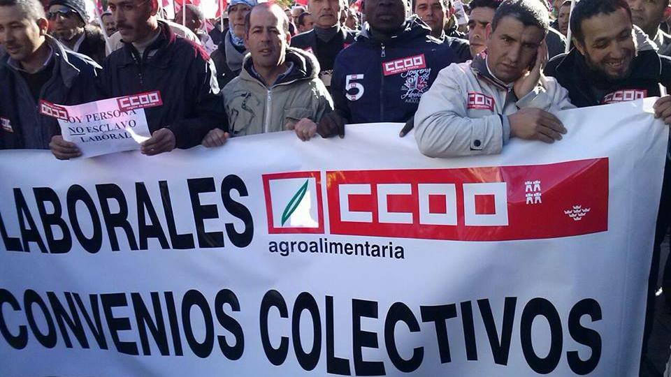 عمال مغارية باسبانيا يحتجون ضد الاستغلال والتحرش الجنسي