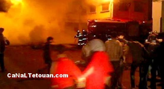 حريق مهول بحومة الحساني قرب الباريو بتطوان