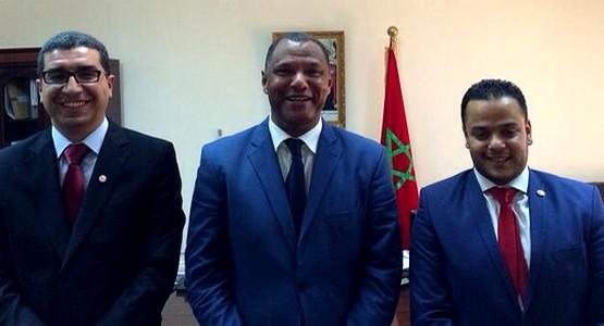 إستقبال مبعوثي نادي المغرب التطواني بالعاصمة المالية باماكو