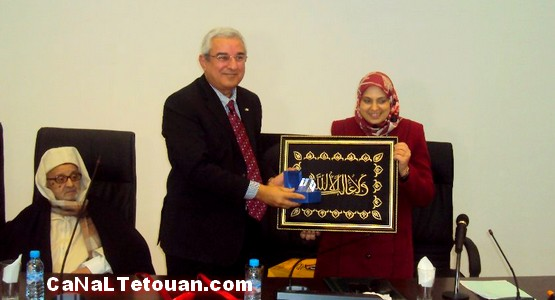 حفل تنصيب حذيفة أمزيان رئيسا لجامعة عبد المالك السعدي للمرة التانية