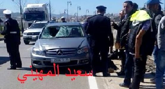 سيارة تدهس رجل أمن بالطريق الدائري بتطوان