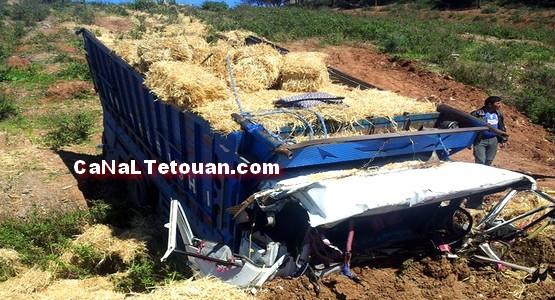 حادثة سير خطيرة على الطريق الواقعة بين أزلا و أمسا (صور)