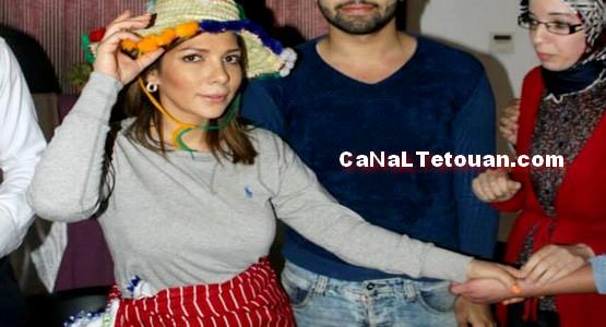الفنانة أصالة نصري تحتفل بألبومها في تطوان وترتدي المنديل والشاشية (صور)