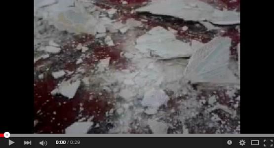 انهيار أجزاء من سقف جامع الباشا المحادي للقصر الملكي بتطوان (فيديو)