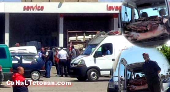 """السلطات تحجز لحوما في """"بومبا الشعيري"""" بتطوان (صور)"""