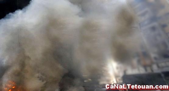 حريق مهول يلتهم منزل بتطوان ( شاهد الصور)