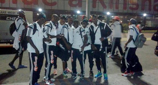 فريق تي بي مازيمبي الذي سيواجه الـ MAT يحل بالمغرب