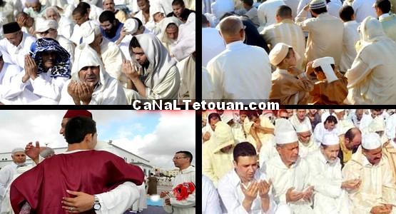 ساكنة تطوان تؤدي صلاة العيد بساحة الولاية وسط أجواء روحانية