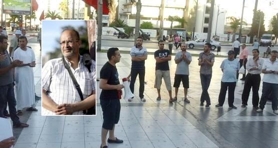 صحافيو طنجة يساندون الصحفي التطواني علي المرابط