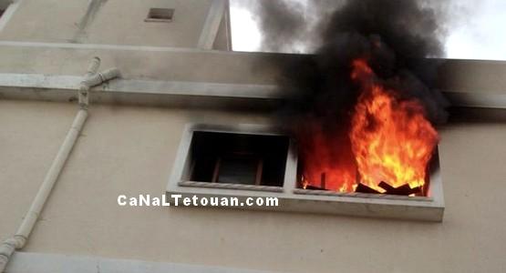 منزل بحي سانية الرمل بتطوان يحترق بسبب شاحن الهاتف !