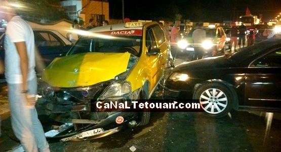 السكر الطافح يسبب في حادثة سير خطيرة على طريق تطوان – مرتيل (صور)