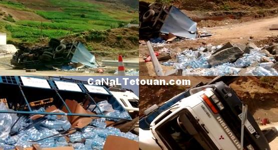 حادثة سير على الطريق الساحلية الرابطة بين تطوان والحسيمة