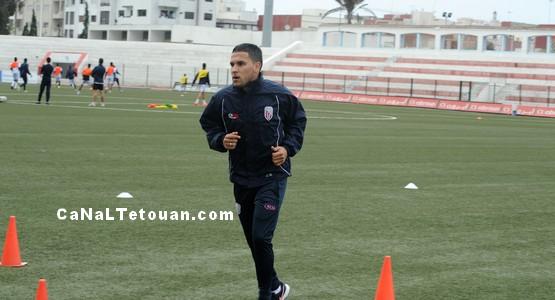 لاعب المغرب التطواني زهير نعيم يتدرب لاسترجاع اللياقة
