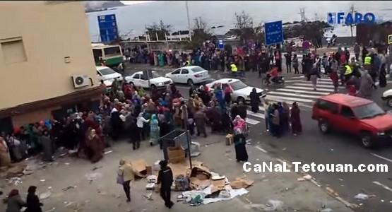 تبادل الرصاص الحي في أحد الأسواق المتواجدة بمدينة سبتة المحتلة