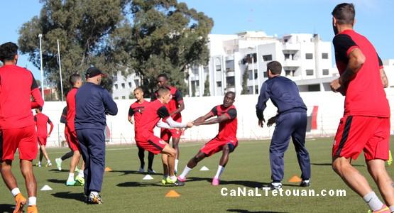 المغرب التطواني يخوص آخر حصة تحضيرية قبل مباراة أولمبيك خريبكة