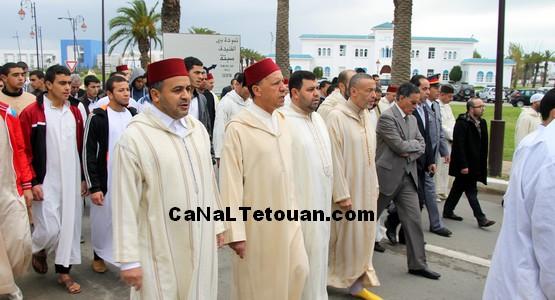 هكذا خرج عامل المضيق الفنيدقلأداء صلاة الاستسقاء بمسجد محمد السادس