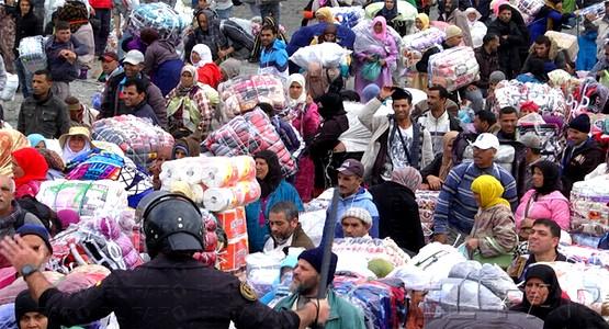 """الأمن الإسباني يحاصر 6 آلاف """"براكدية"""" بسبتة (صور صادمة)"""