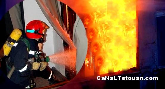 ألسنة النيران تلتهم منزلا بمدينة تطوان
