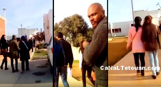 خطير للغاية … شابان يبشران بدين المسيحية داخل كلية الآداب بتطوان ! (فيديو)