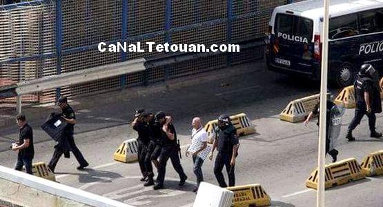 مغربية تنهال بالضرب على شرطية اسبانية وتخلق توترا بباب سبتة