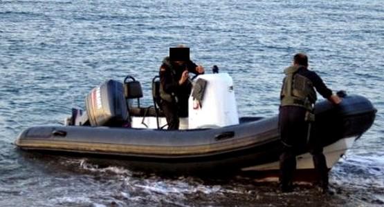 """تهريب 595 كيلو من """"الحشيش"""" في شاطئ كابونيكرو … والشرطة تجهض العملية !"""