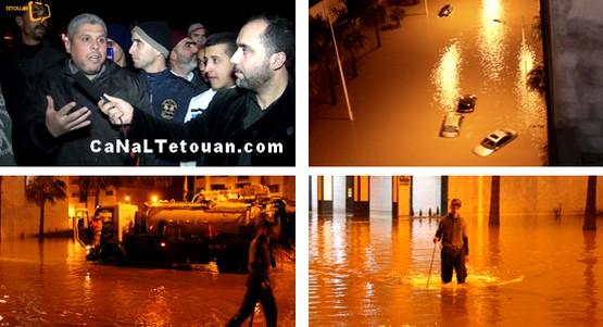 مشاهد وتصريحات عن فيضان تطوان (فيديو)