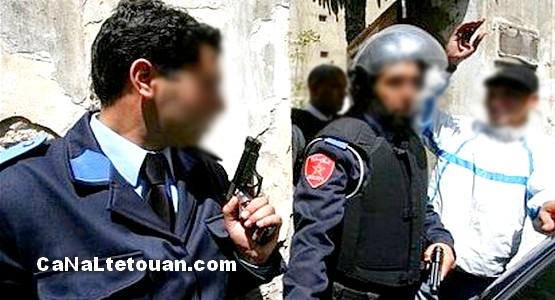 شرطي بطنجة يطلق النار على شخص هاجمه بسكين