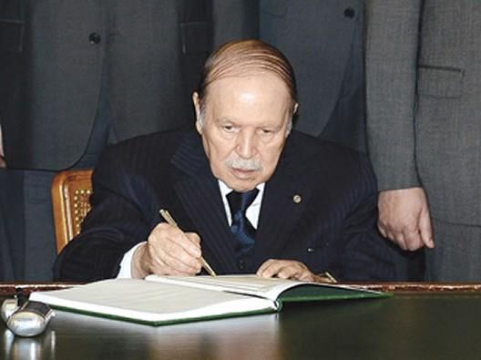 رسالة استقالة الرئيس الجزائري عبد العزيز بوتفليقة الى شعبه