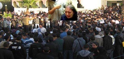 شاهد عيان يروي تفاصيل الحكم على طالبة بجامعة مكناس بحلق رأسها وصفعها 40 مرة