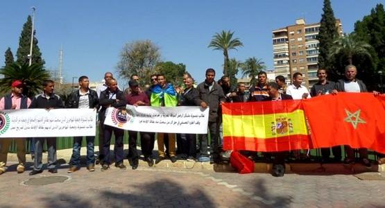 المهاجرون المغاربة باسبانيا ينزلون من جديد للاحتجاج في الشارع