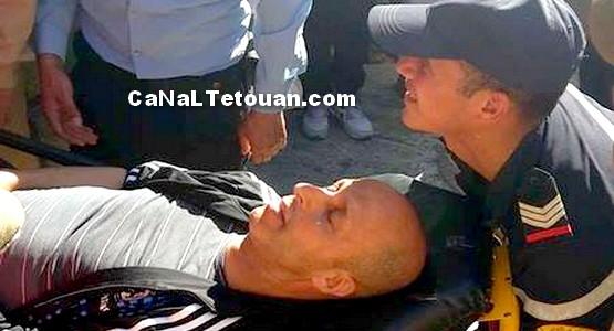 مقدم يتعرض للضرب المبرح بتطوان ! (شاهد الصور)