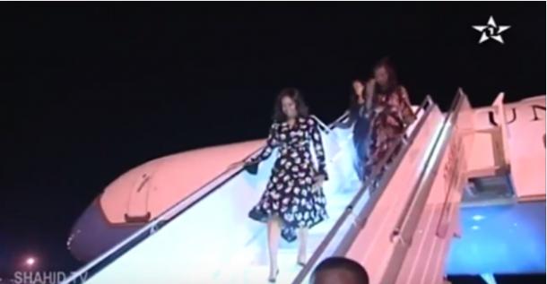 هكذا استقبلت الأميرة للا سلمى زوجة الرئيس الأمريكي أوباما (فيديو)