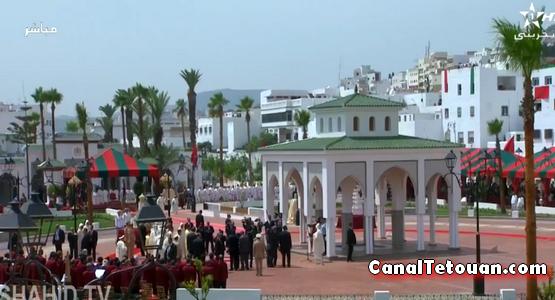 هكذا دشن الملك محمد السادس ساحة الفدان الجديد بتطوان (شاهد الفيديو)