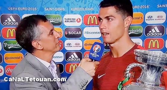 """مفاجأة .. كريستيانو رونالدو يهتف : بـ """"مراكش"""" بعد الفوز باليورو (فيديو)"""
