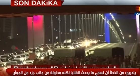 عاجل .. اللقطات الأولى لمحاولة إنقلاب عسكري على أردغان في تركيا (شاهد الفيديو)