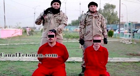 تنظيم داعش يذبح رهينتين بمنتزه عمومي أمام أعين الأطفال .
