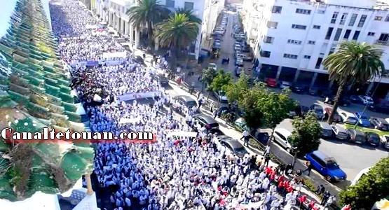 """خريجو """"10000 إطار"""" يعلنون التصعيد ضد الحكومة ويضربون عن الطعام امام مقر البرلمان"""