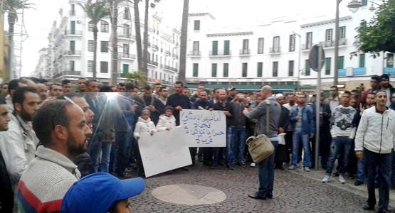 هكذا خرجت ساكنة تطوان للاحتجاج ضد أمانديس بسبب انقطاع المياه (شاهد الصور)