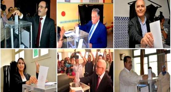 زعماء الأحزاب السياسية يدلون بصوتهم في الانتخابات (صور)