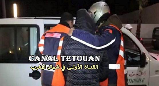 """أمن تطوان يلقي القبض على """"بيتبول"""" بحي جبل درسة (+ صورة المحجوزات)"""