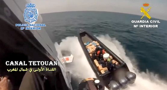اعتراض قارب محمل بـ 4 أطنان من الحشيش بميناء سبتة