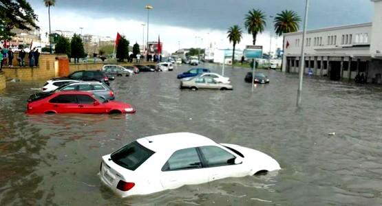 هكذا صارت مدينة طنجة بعد ساعات قليلة من الأمطار (شاهد الصور)