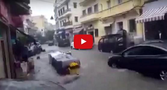 فيديو لفيضان طنجة..!