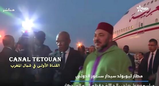 هكذا تم استقبال الملك محمد السادس في العاصمة السينيغالية دكار (شاهد الفيديو)